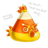 OC No. 63 - Candy Corn Bird Philly by RiverKpocc