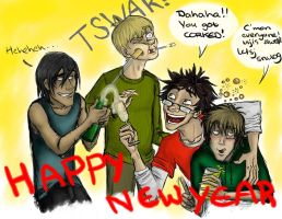 The Marauders' New Year by Alatariel-Amandil