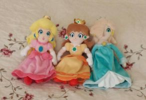 My new Mario Princess Plushies by princessahagen