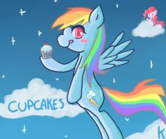 Rainbow Dash and Cupcake by BerryDrops