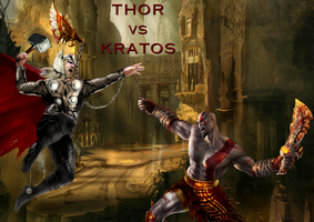 Thor vs Kratos by Tony-Antwonio