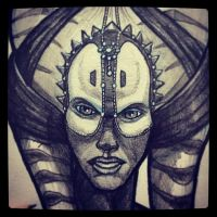 Shaak Ti - Daily Sketch (Detail) by Geekincognito