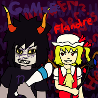 GaMzEe and Flandre by Sonicchica