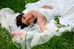 Bride in grass by AvaHtH