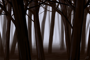 A dead forest by saurien