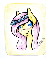 with flower crown or something... Fluttershy by AviAlexis25