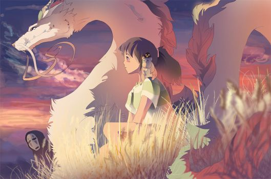 Spirited Away - Our Last Sunset by Drayok