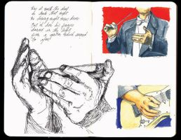 Sketchbook: Musical Hands by JackRaz