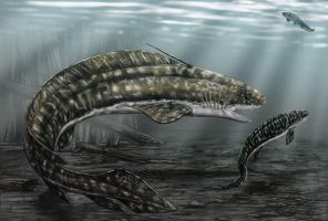 Orthacanthus and Triodus by dustdevil