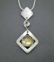 Rutilated Quartz Pendant by GipsonDiamondJeweler