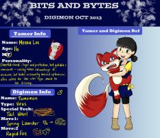 Bits and Bytes App - Meena and Tomomon by merodiissi