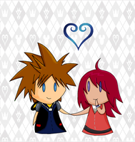 Sora X Kairi by Bubblesnuffer