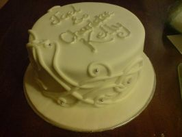 Informal Celtic Wedding Cake by Catzombies