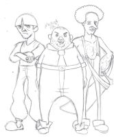 The 3 Explorers -3 stooges- by Mascot1063