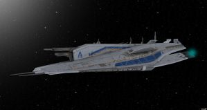 Human Cruiser and Space Sphere by nach77