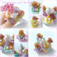 Carousel tea cups Necklace by Bojo-Bijoux