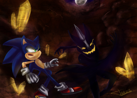 Sonic vs. Shadow Stalker by ReshiDaVanci