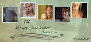 set 1-Jane Austen themed icons by umi-pryde