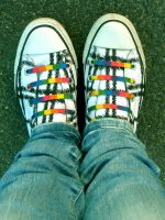 Rrrrrrainbow converse... by What-is-worth