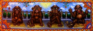 The Four Monkeys by johnlanthier