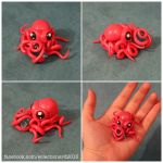 Baby Bright Pink Octopus w/ D4 by Sorenli