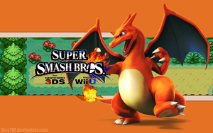 Charizard Wallpaper - Super Smash Bros. Wii U/3DS by AlexTHF