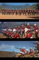 Zulu (Red Coats) 1964 Study by RobbieMcSweeney