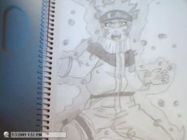 drwing of full body naruto fox by StaticFOOL100