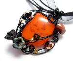 Jack o' Lantern Pendant no. 2 by sojourncuriosities