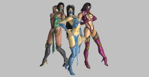 Mortal Kombat Girls by LinksTRUEGirlfriend