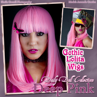 Daily Doll - Deep Pink by GothicLolitaWigs