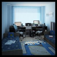 Interior 3d - My room by Araiel