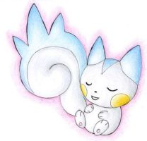 Sleeping Pachirisu by ShrubSparrow