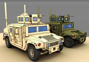 WIP - Armored Vehicle - HMMWV - 4 by freiheitskampfer