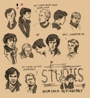 Studies Sherlock and John by Nim-lock