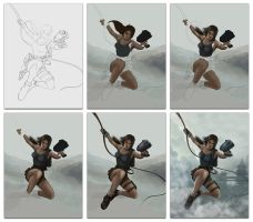 Lara Croft in few steps by Lukecfc