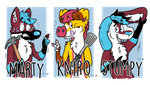 Googly eye badge commissions for Marty_wolfy by nlorier