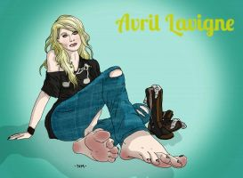 Avil Lavigne's barefooted by FeatherFantasies