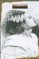 The Bride of Frankenstein by kevindoyleart