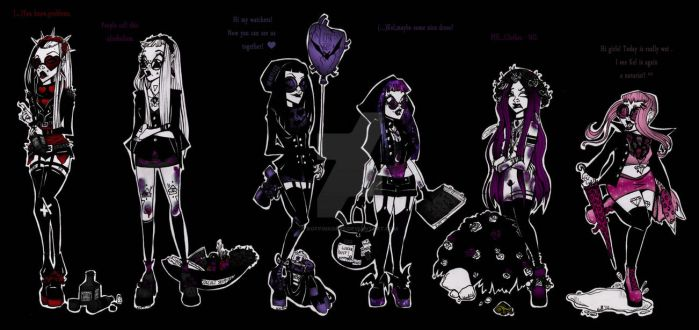 We are monster girls from freaky world by KoffinKorps