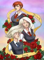 HP - The Weasley-Delacour Siblings by AlbinoNial