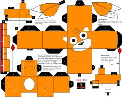 Tails Doll papercraft by CoralCalypso