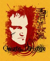 Quentin Tarantino estampa by willblackwell