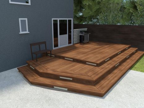New Deck Installation in South Cloverdale Ave, LA by Poopgoblyn