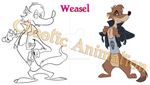 Weasel from The Forgotten Toon by puritysin