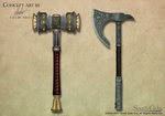 Game Concept Weapons 1 by Alegion
