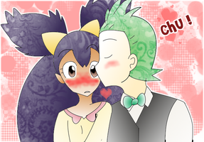 Wishfulshipping - Surprise Kiss by Patori-san