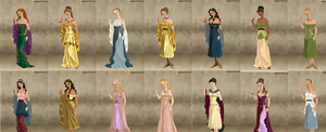 All Disney Princesses Roman by jesusismybestie