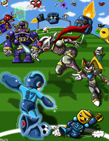 Supa Megaman Strikers Universe by RockMiyabi