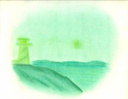 Green Lighthouse by VicDillinger